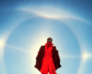 A magnificent halo: Looking North from the South Pole